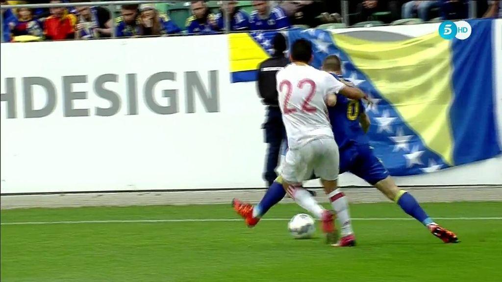 'Pique' entre Nolito y Vranjes que acabó con la falta del jugador español
