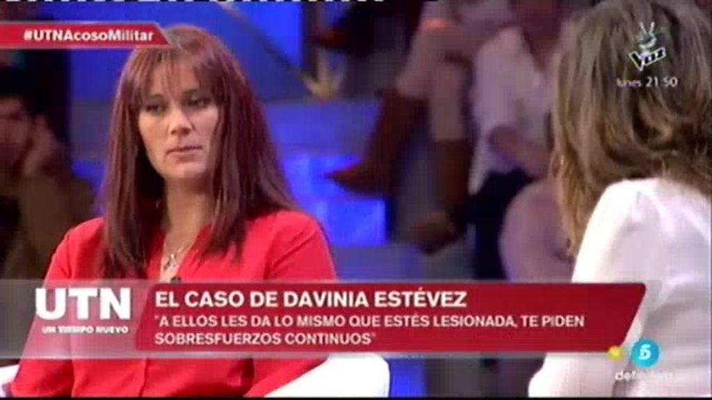 """Davinia: """"Entré lesionada del tobillo y me pusieron a hacer cuartelera, todo el día de pie"""""""