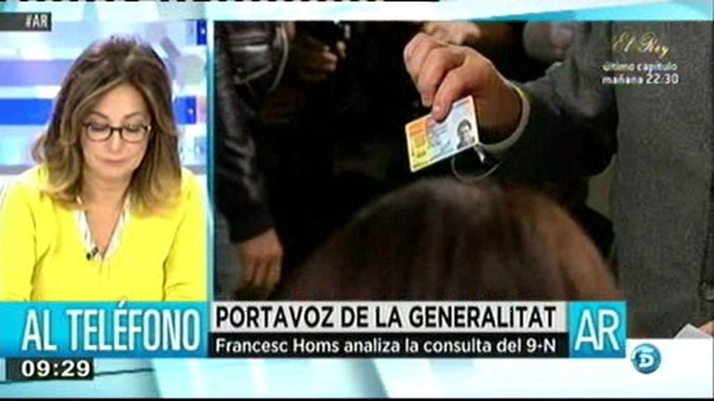 """Francesc Homs: """"El 9N ha sido legal"""""""