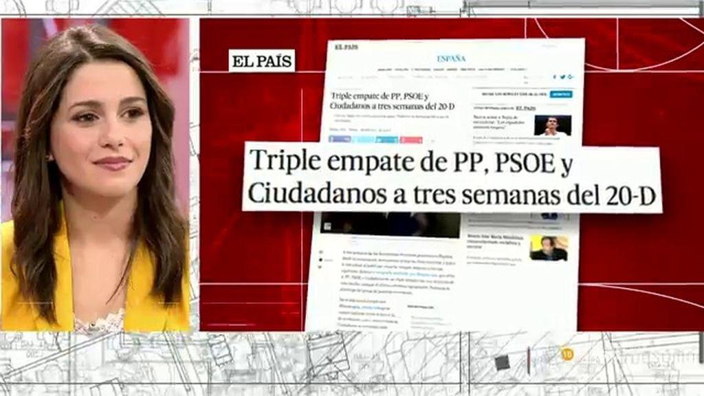 """Inés Arrimadas: """"Somos prudentes con las encuestas, pero no hemos parado de crecer"""""""