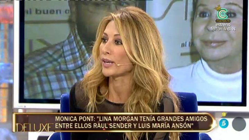 Mónica Pont desvela si mantuvo una relación sentimental con Lina Morgan