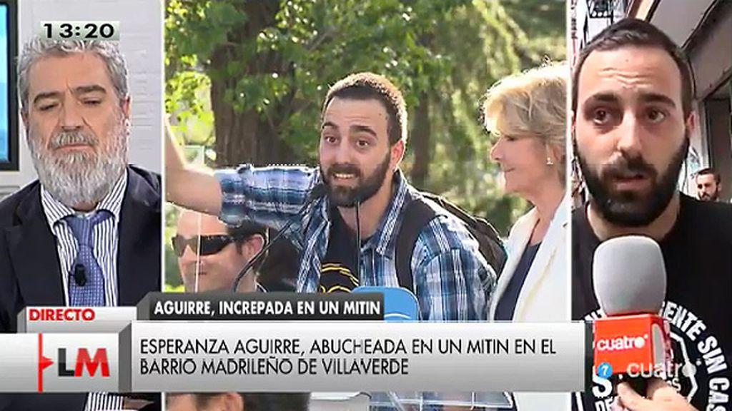 """Miguel: """"No hemos reventado un acto, si no dan voz a los movimientos sociales esta es la única forma de poder expresarnos"""""""