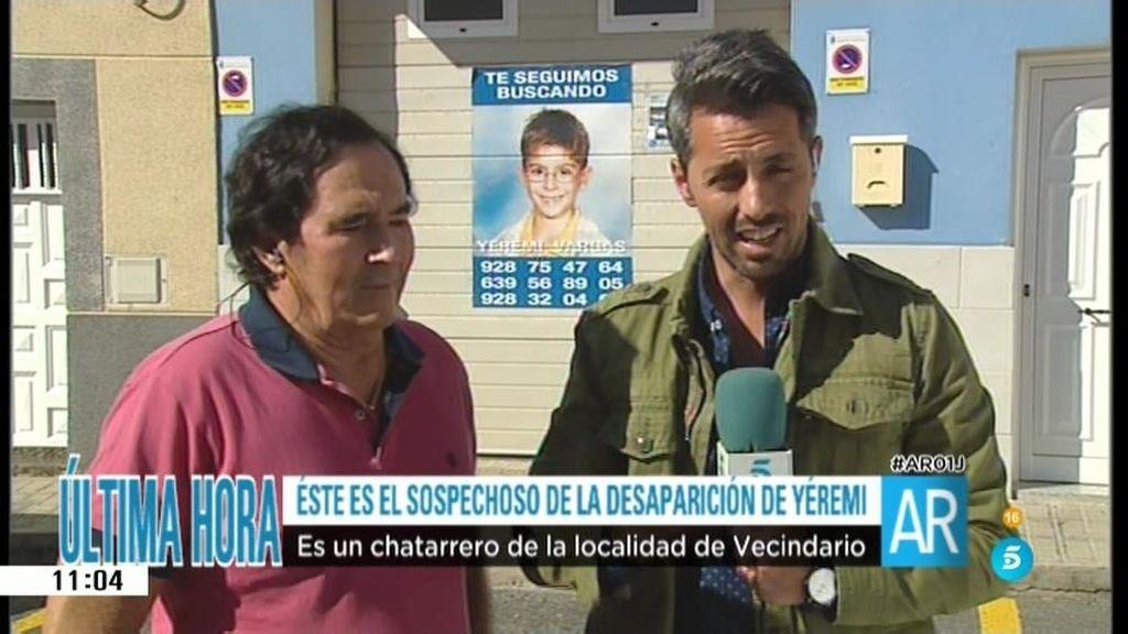 """Abuelo de Yéremi: """"Sí, pensé en esta persona como presunto secuestrador"""""""