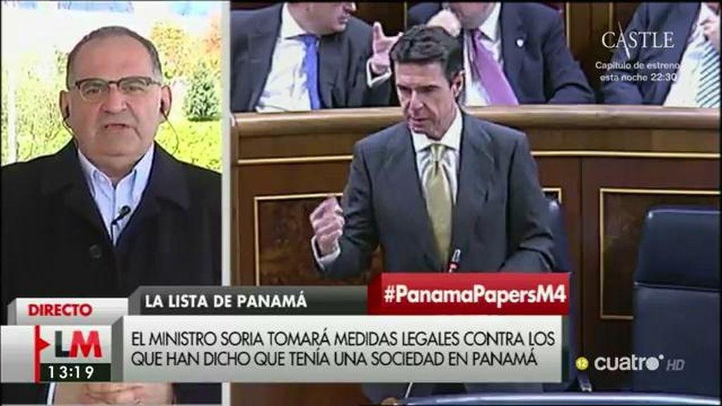 """Losada, José Manuel Soria: """"Le recomiendo la máxima transparencia"""""""