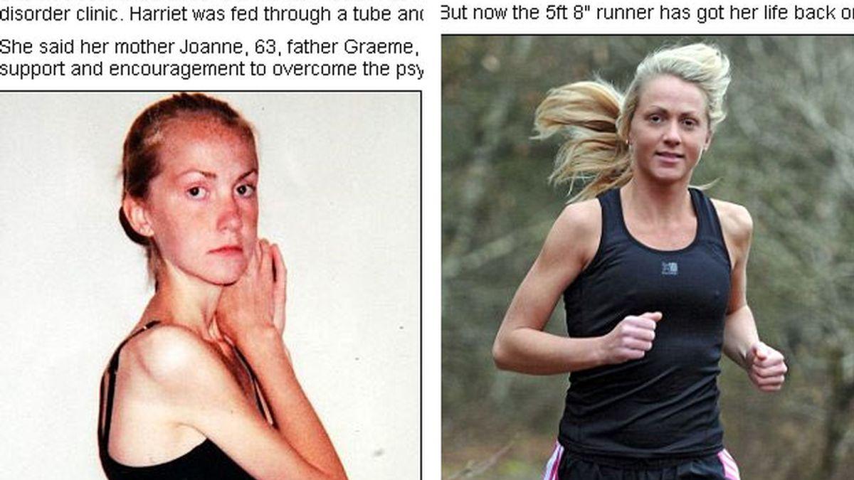Harriet Smith ha pasado de pesar 31 kilos a correr una maratón