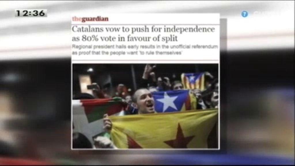 La consulta del 9-N, protagonista en la prensa internacional