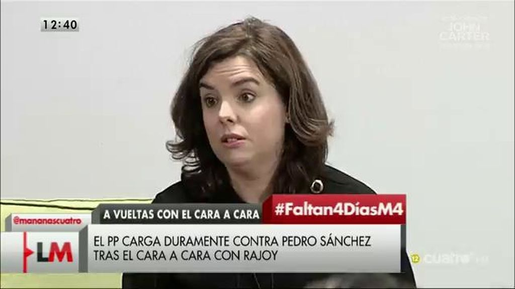 El PP carga duramente contra pedro Sánchez tras el cara a cara con Rajoy