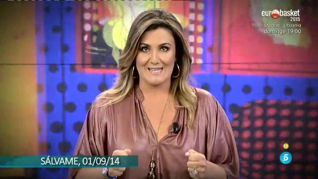 Carlota Corredera presentará Sálvame Diario este lunes en sustitución de Paz Padilla
