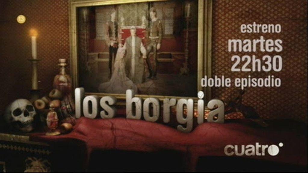 Promo Los Borgia: estreno martes 22h30