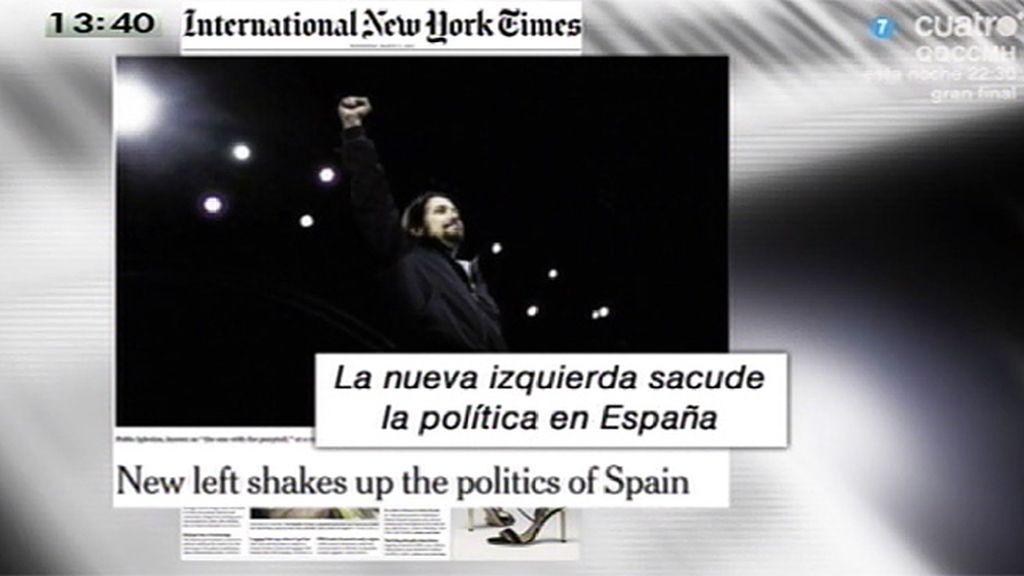 Pablo Iglesias, portada de 'International New York Times'