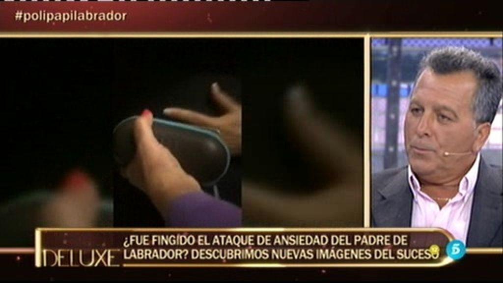 Las imágenes del ataque de ansiedad que sufrió el padre de Labrador tras su encuentro