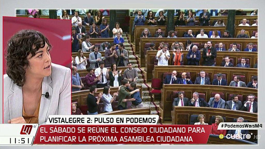 """Tania González (Unidos Podemos): """"No se puede plantear que un debate es una guerra"""""""