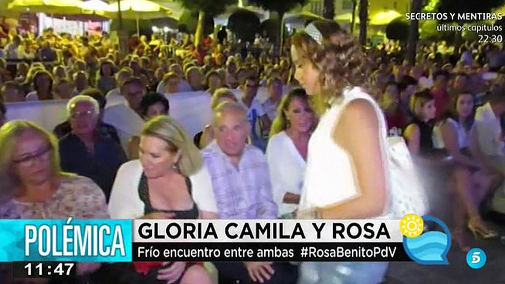 El frío encuentro entre Gloria Camila y su tía