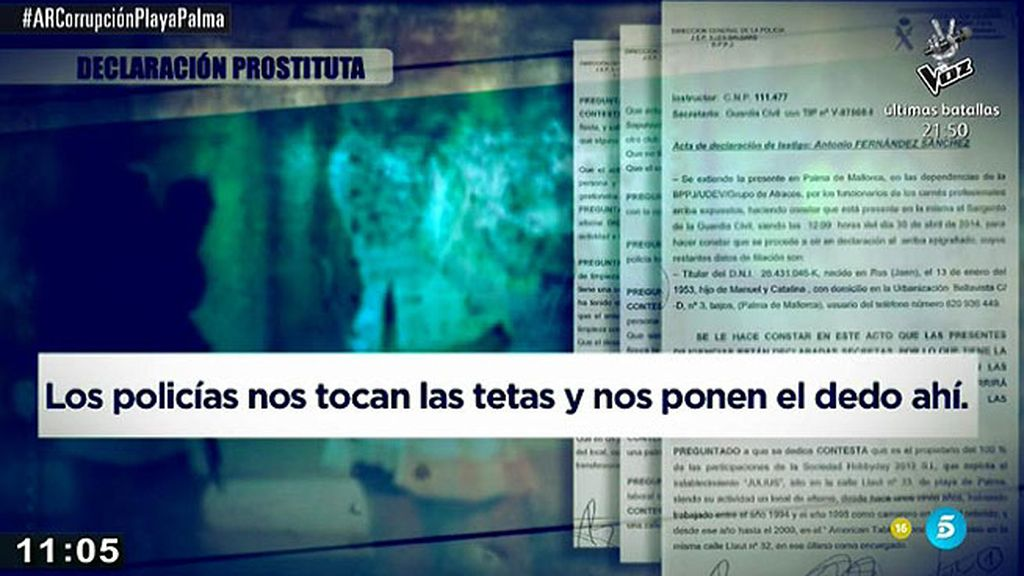 La declaración de las prostitutas de Palma obligadas a participar en orgías con policías y políticos, en 'AR'