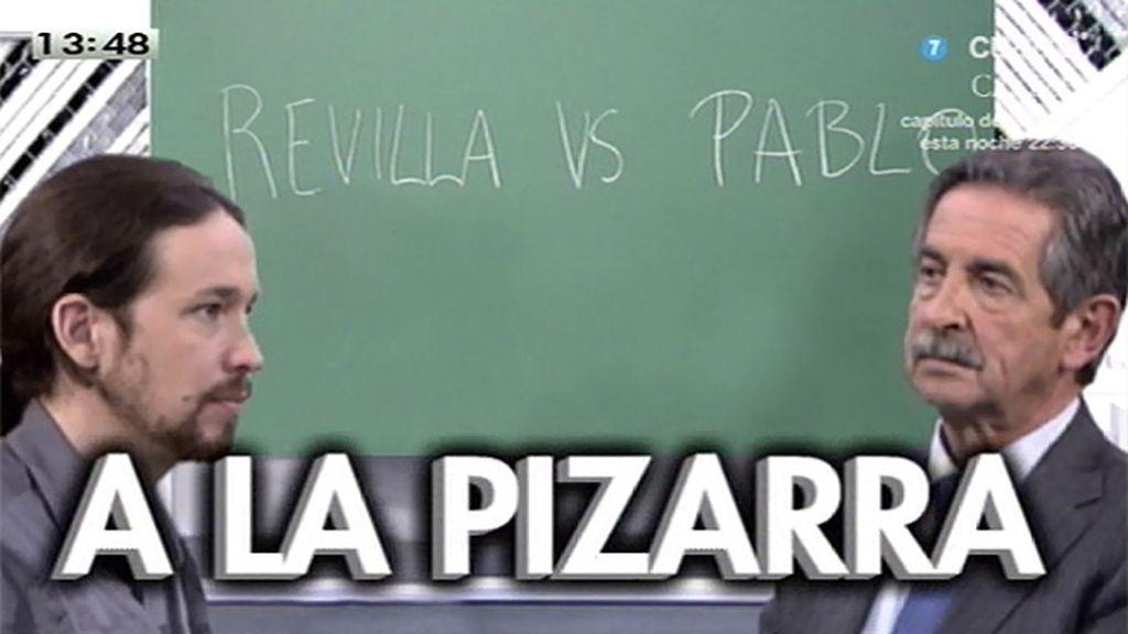 Revilla y Pablo Iglesias protagonizaron un frente a frente ante la pizarra de 'LMDC'