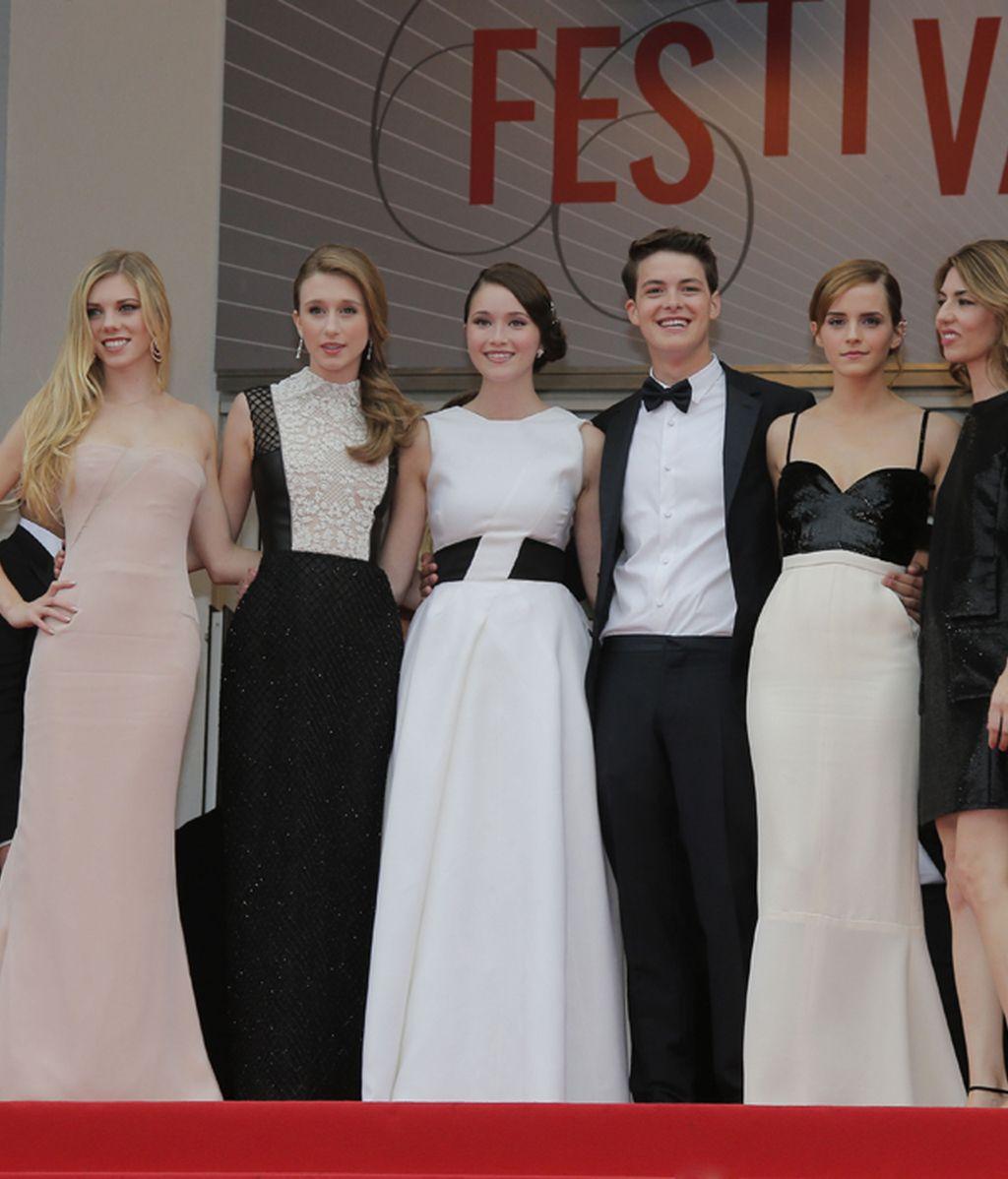 El elenco de 'Bling Ring' posa en la alfombra roja de Cannes