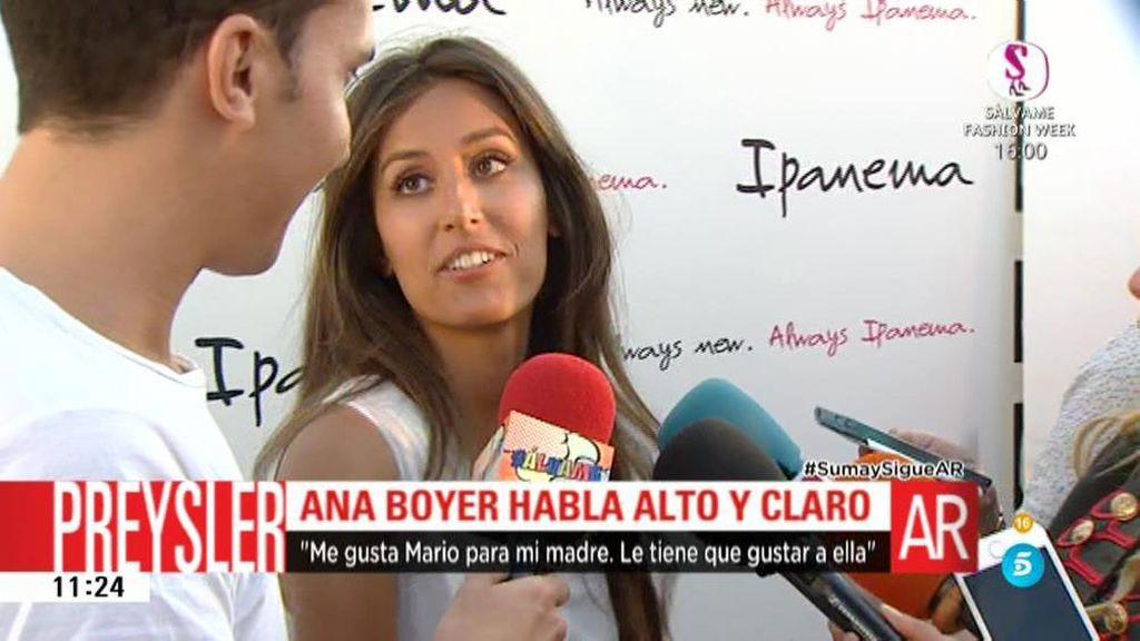 """Ana Boyer: """"A mí Mario me gusta mucho pero lo importante es que mi madre esté feliz"""""""