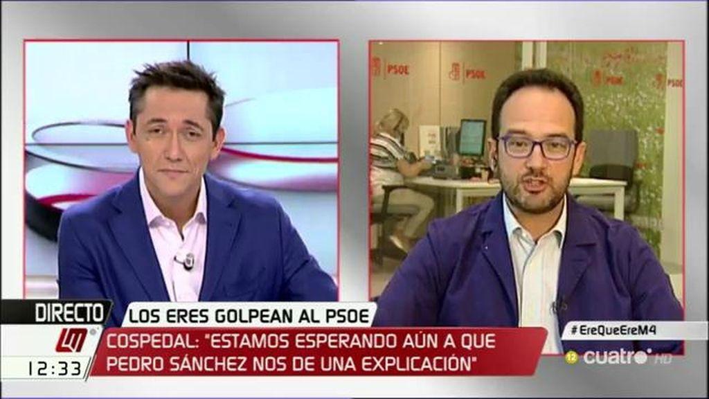 """Hernando, de Cospedal: """"Hay que tener la cara de cemento armado para decir que son campeones luchando contra la corrupción"""""""