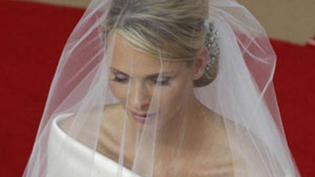 Charlene durante la ceremonia.