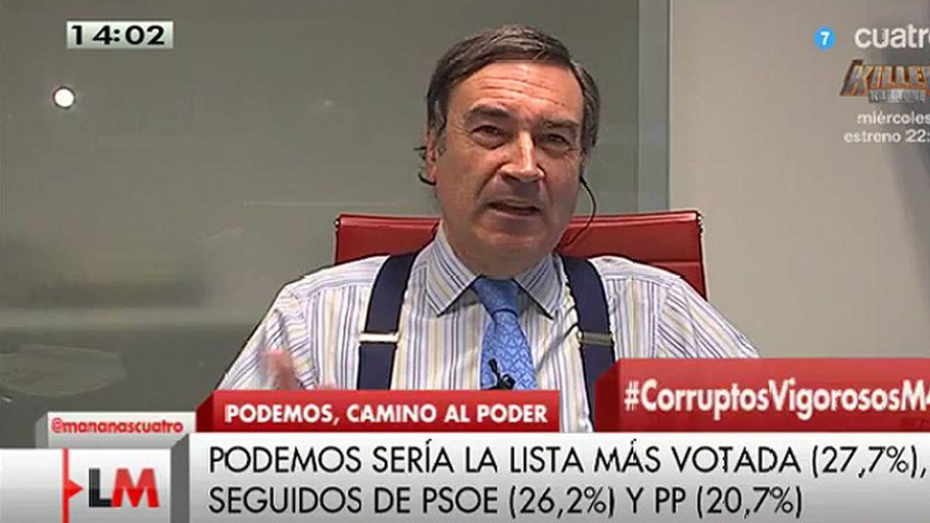 """Pedro J.: """"Todos los sondeos indican que la gente está harta de la vieja política"""""""