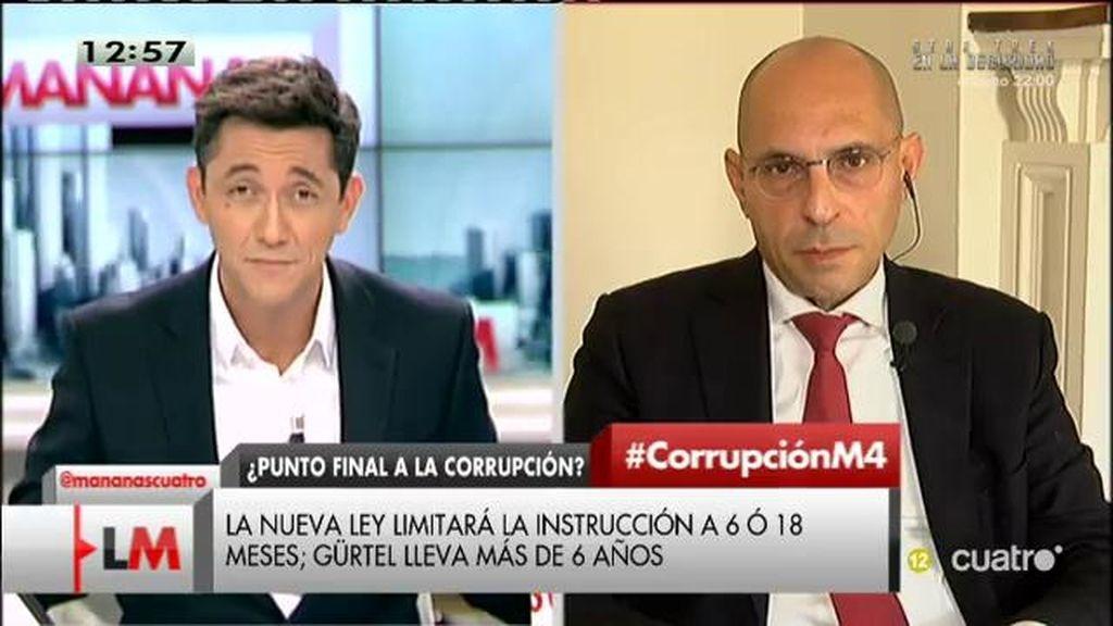 """Silva, de la Ley de Enjuiciamiento Criminal: """"Este plazo viene a determinar impunidad"""""""