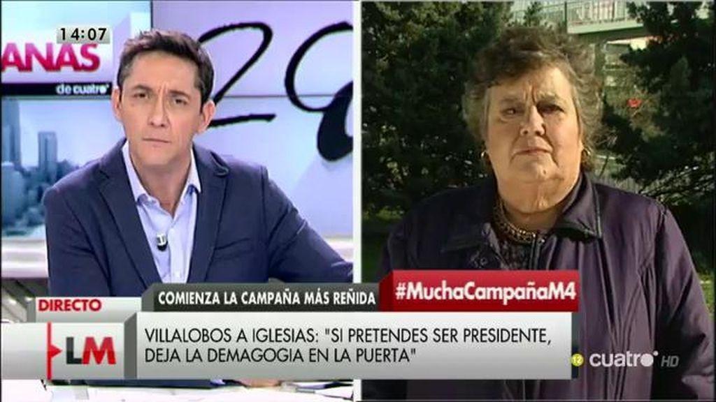 """Cristina Almeida: """"Tendría que haber una obligación democrática para todos los elegibles de comparecer en debates"""""""
