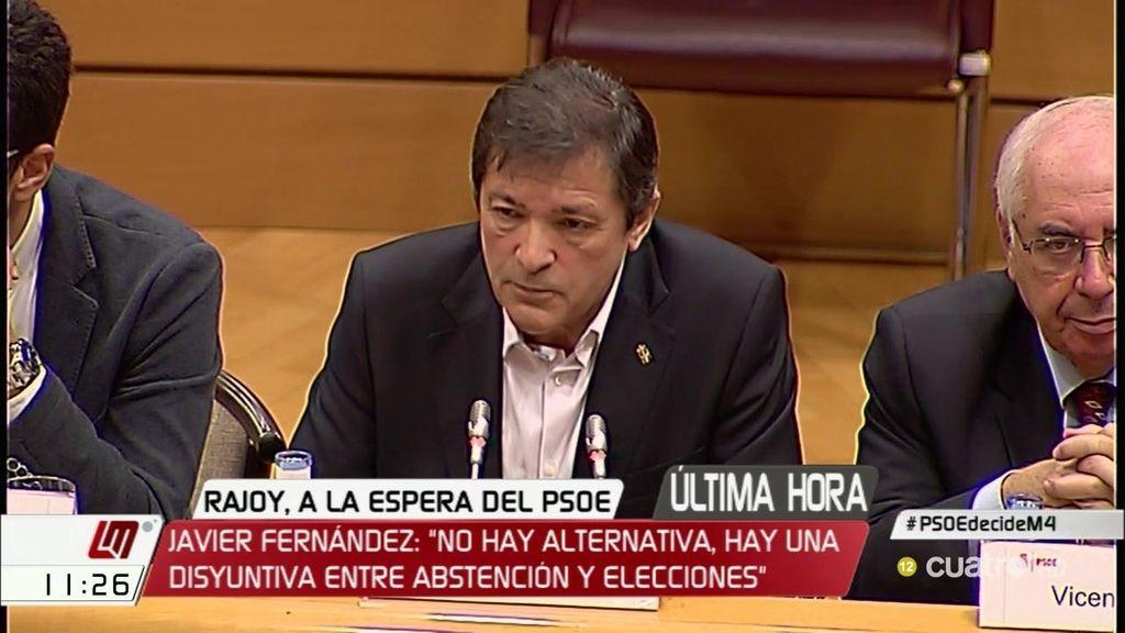 """Fernández vuelve a incidir en su argumento de que """"abstenerse no es apoyar"""""""