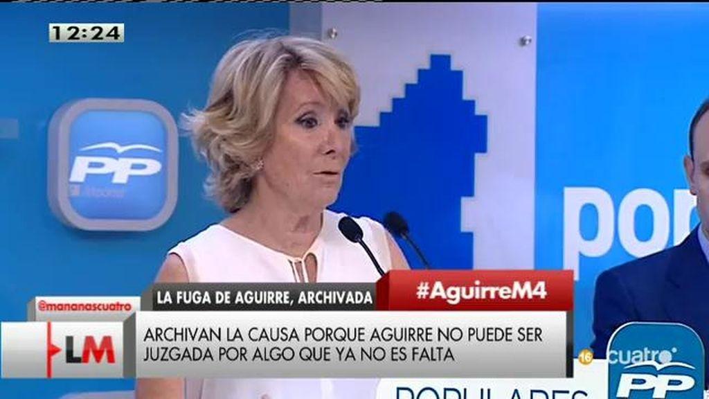 Archivada la causa contra Esperanza Aguirre