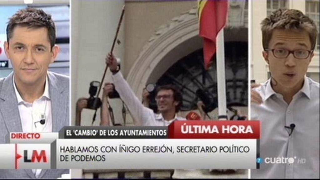 """Iñigo Errejón: """"Esto es insólito y se puede calificar de primavera democrática"""""""