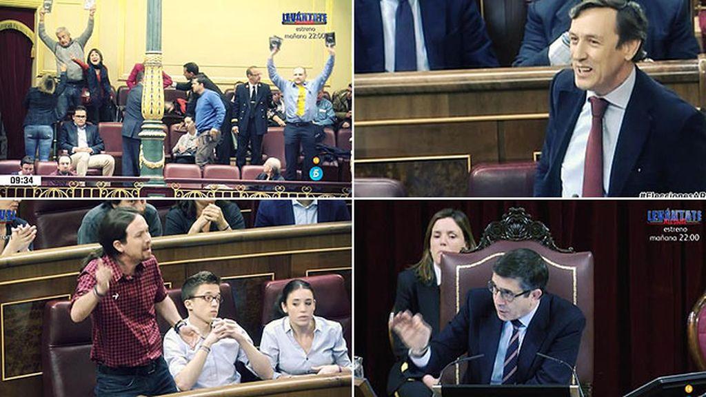 Tensión, broncas, insultos y enfados en el último pleno de la legislatura