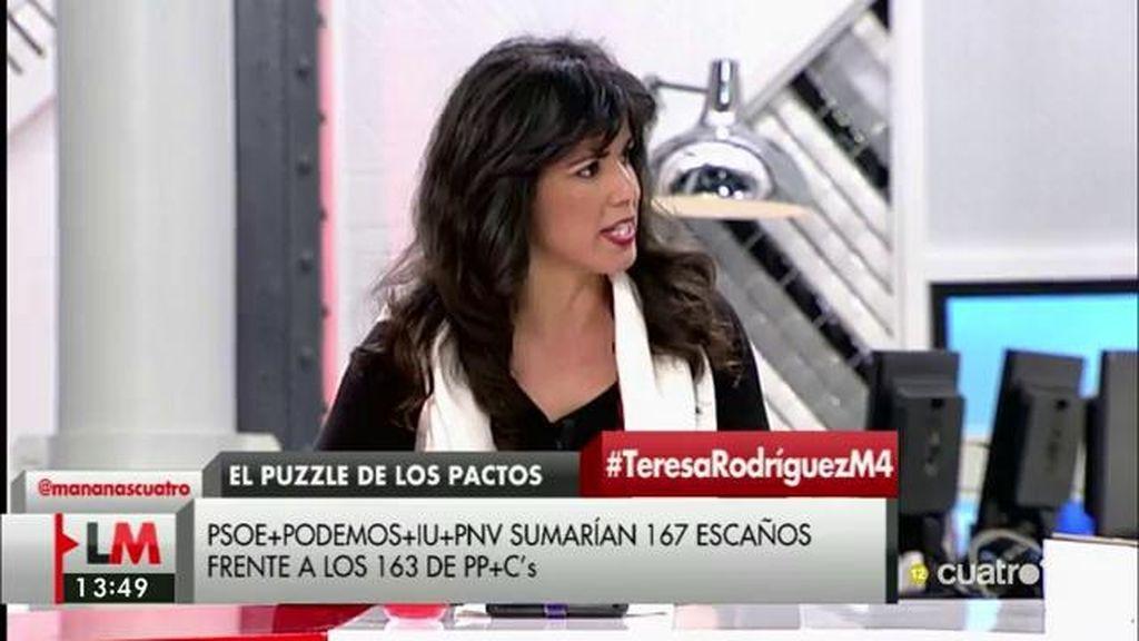 """Teresa Rodríguez, sobre un acuerdo con el PSOE: """"Sería partidaria siempre y cuando suponga victorias para la gente"""""""