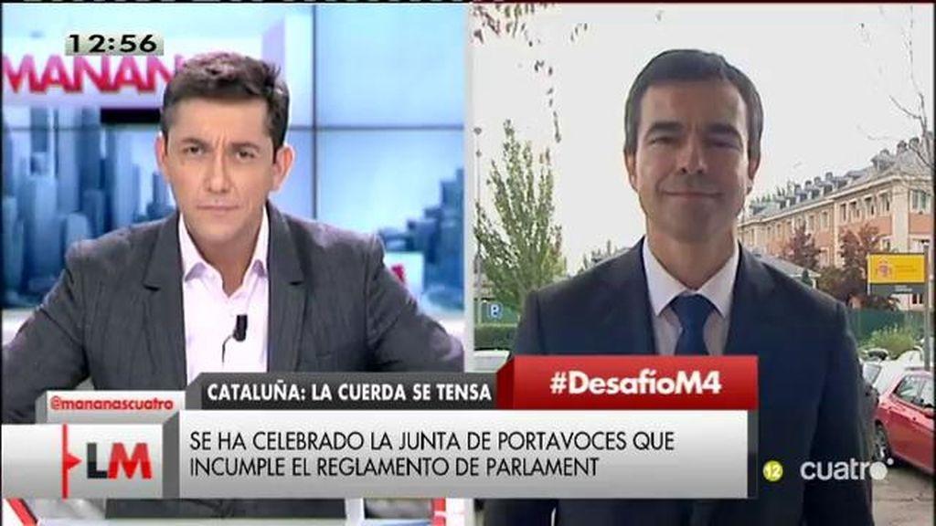 """Andrés Herzog, tras la reunión con Rajoy: """"Le hemos dicho que la pasividad no es una opción, hay que actuar"""""""