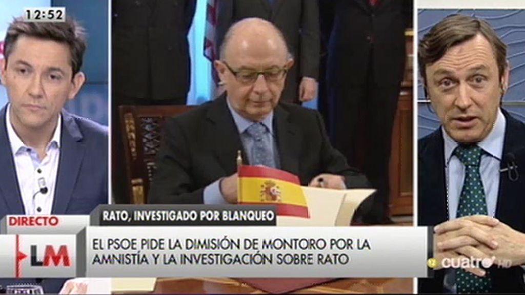 """Rafael Hernando: """"Por supuesto que no tiene que dimitir el señor Montoro"""""""