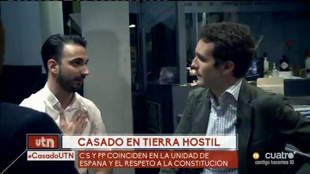 """Pablo Casado,  a votantes de Ciudadanos: """"El votante centrista tiene su casa en el PP"""""""