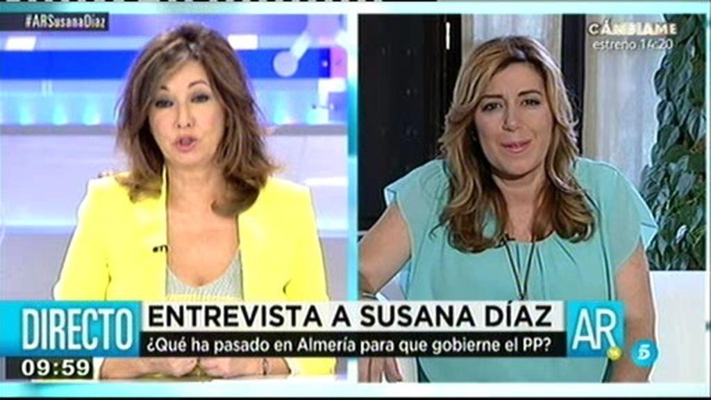 """Susana Díaz: """"No es normal que la oposición no acudiera a mi toma de posesión"""""""