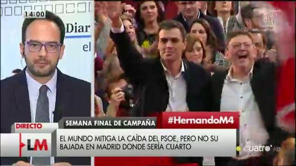"""Antonio Hernando: """"Algunos se empeñan en ganar las encuestas, nosotros queremos ganar la confianza de los ciudadanos"""""""