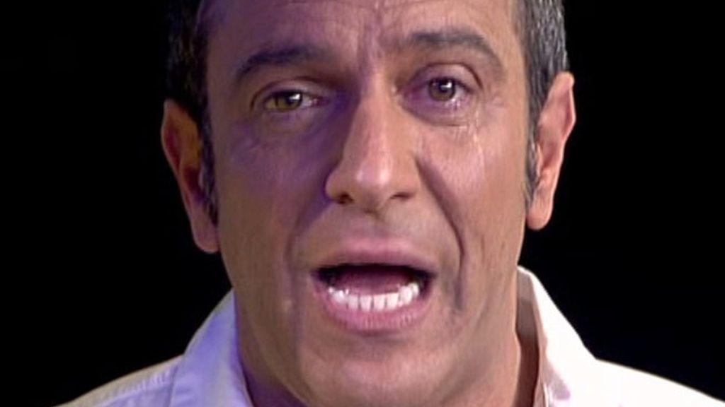 Víctor Sandoval, entre lágrimas