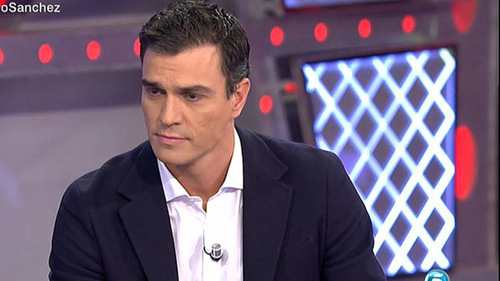 """Sánchez: """"A mí a ganas de cambiar la política no me gana nadie, y menos Podemos"""""""