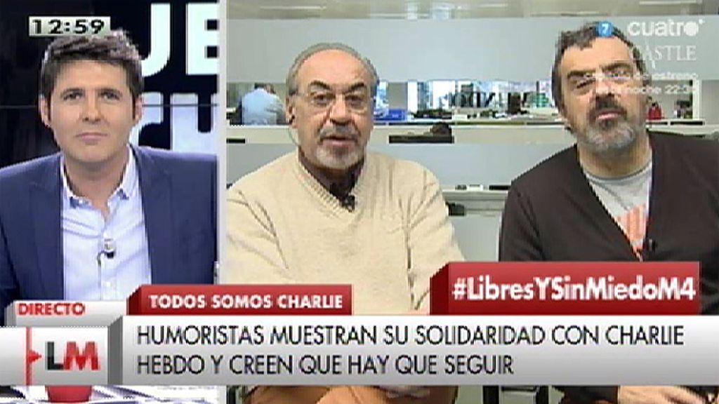 """José Mª Gallego, dibujante: """"En el aspecto de fanatismo ideológico sí hemos recibido a veces amenazas"""""""