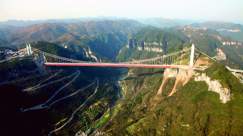 Puente colgante Aizhai, China