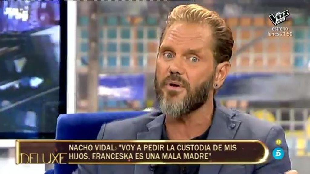 """Nacho Vidal: """"Es la primera vez que voy a pedir la custodia compartida de mis hijos"""""""