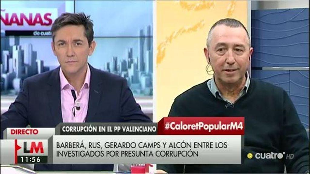 """J. Baldoví, sobre Valencia: """"Creo que el PP había entendido que era su cortijo particular"""""""