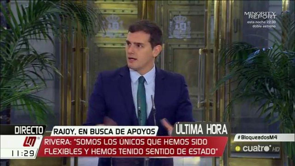 """Albert Rivera: """"Rajoy ya sabe que no le vamos a apoyar"""""""