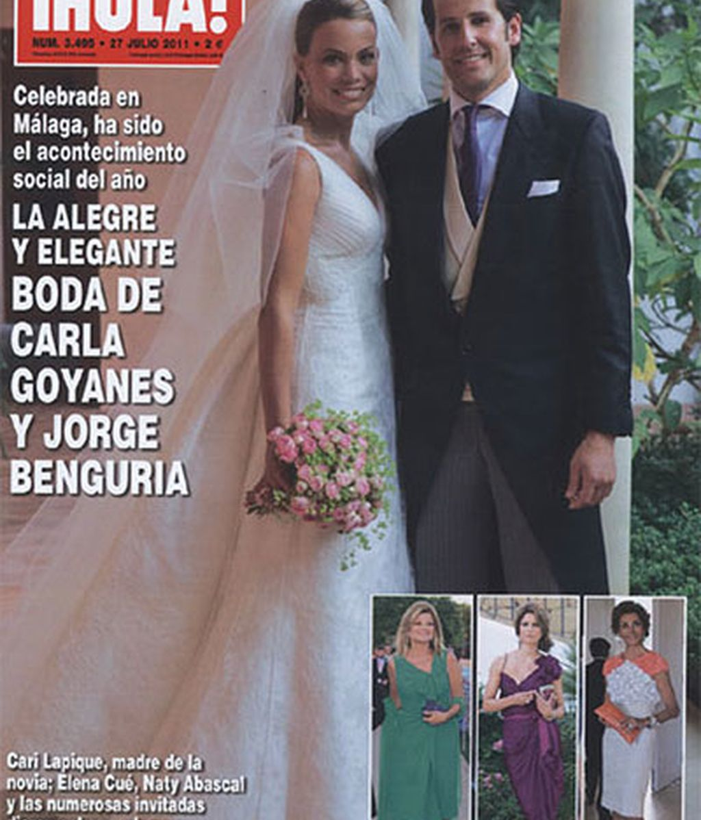 La boda de Carla Goyanes, en la portada de '¡Hola!'