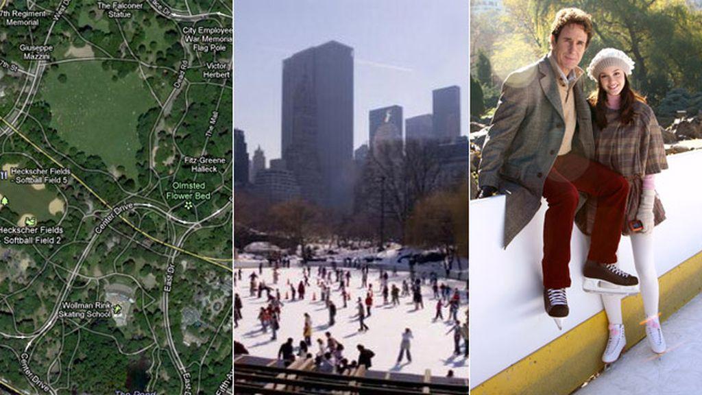 Un guiño a la pista de patinaje de Central Park