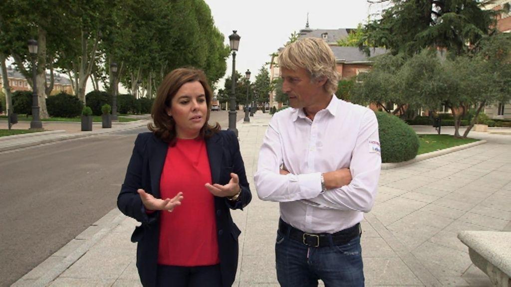 """Soraya Sáenz de Santamaría: """"Contar más de lo que debes puede perjudicar a alguien"""""""