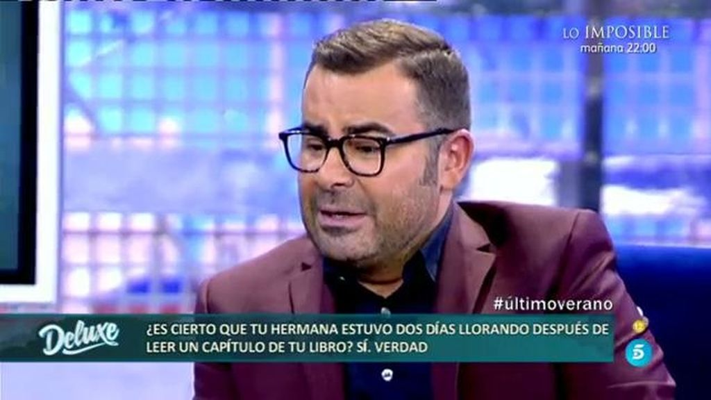 "Jorge Javier: ""Un ligue me hizo fotos desnudo en mi casa e intentó venderlas a una revista"""