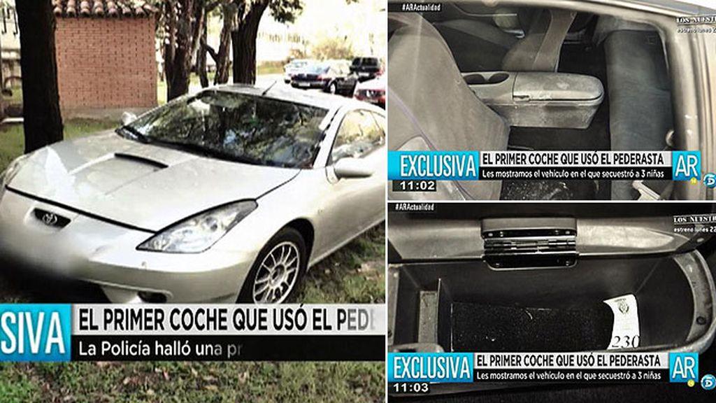 Las imágenes del primer coche que usó el pederasta de Ciudad Lineal, en exclusiva