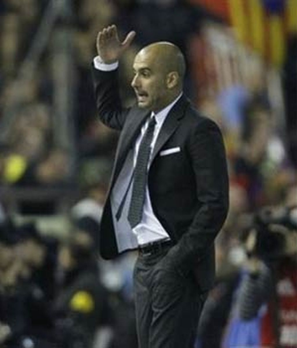 Guardiola, en un momento del partido. Foto: EFE