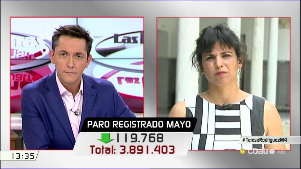 """Teresa Rodríguez, a Fernández Díaz: """"Habría que decirle que sea el primero en cambiarse el contrato de trabajo"""""""